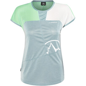 La Sportiva Push Shortsleeve Shirt Women grey/turquoise